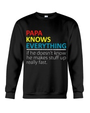 Papa Knows Everything Best Father's Day Gift Crewneck Sweatshirt thumbnail