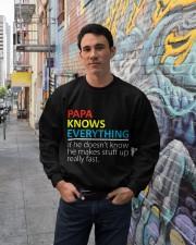 Papa Knows Everything Best Father's Day Gift Crewneck Sweatshirt lifestyle-unisex-sweatshirt-front-2