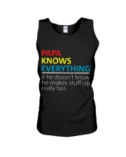 Papa Knows Everything Best Father's Day Gift Unisex Tank thumbnail