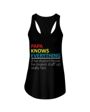 Papa Knows Everything Best Father's Day Gift Ladies Flowy Tank thumbnail