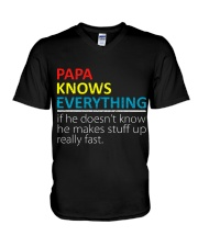 Papa Knows Everything Best Father's Day Gift V-Neck T-Shirt thumbnail