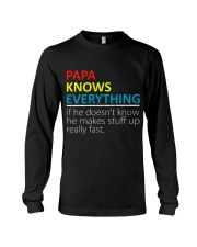 Papa Knows Everything Best Father's Day Gift Long Sleeve Tee thumbnail