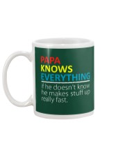 Papa Knows Everything Best Father's Day Gift Mug back