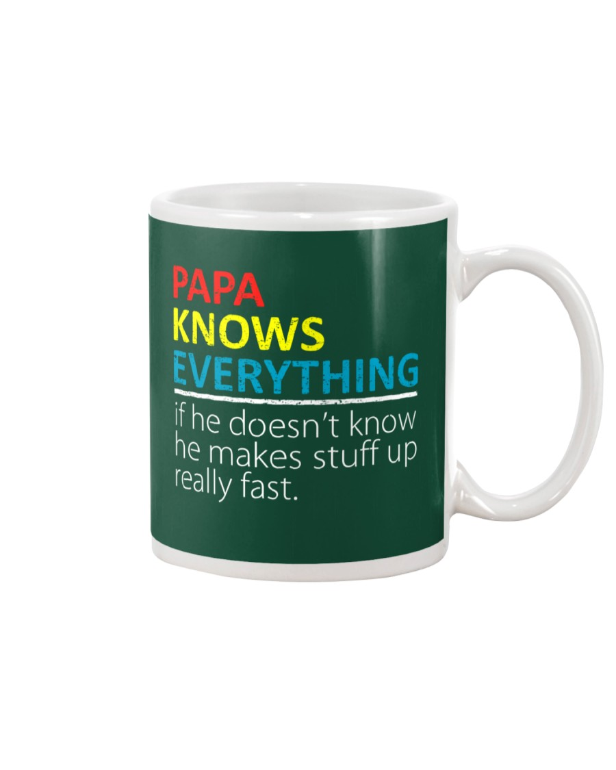 Papa Knows Everything Best Father's Day Gift Mug