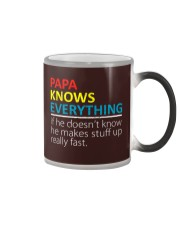 Papa Knows Everything Best Father's Day Gift Color Changing Mu