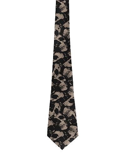 Gothic Skull Tie  Mens Spooky skull necktie
