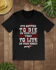 02 Gun Control Better To Die On Your Feet Classic T-Shirt lifestyle-mens-crewneck-front-18