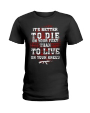 02 Gun Control Better To Die On Your Feet Ladies T-Shirt thumbnail