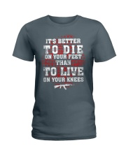 02 Gun Control Better To Die On Your Feet Ladies T-Shirt front