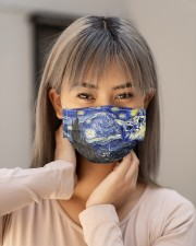Cat Starry Night  Cloth face mask aos-face-mask-lifestyle-18