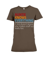 AUNTIE Knows Everything Premium Fit Ladies Tee front