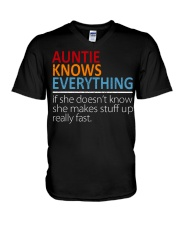 AUNTIE Knows Everything V-Neck T-Shirt thumbnail