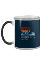 AUNTIE Knows Everything Color Changing Mug color-changing-left