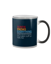 AUNTIE Knows Everything Color Changing Mug color-changing-right