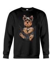 Yorkshire terrier in pocket scratch shirt funny Crewneck Sweatshirt thumbnail