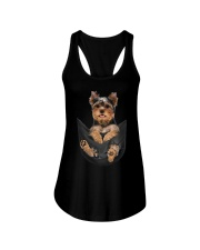 Yorkshire terrier in pocket scratch shirt funny Ladies Flowy Tank thumbnail