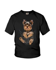 Yorkshire terrier in pocket scratch shirt funny Youth T-Shirt thumbnail
