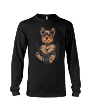 Yorkshire terrier in pocket scratch shirt funny Long Sleeve Tee thumbnail