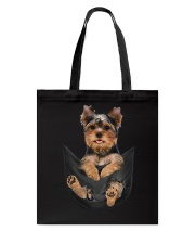 Yorkshire terrier in pocket scratch shirt funny Tote Bag thumbnail