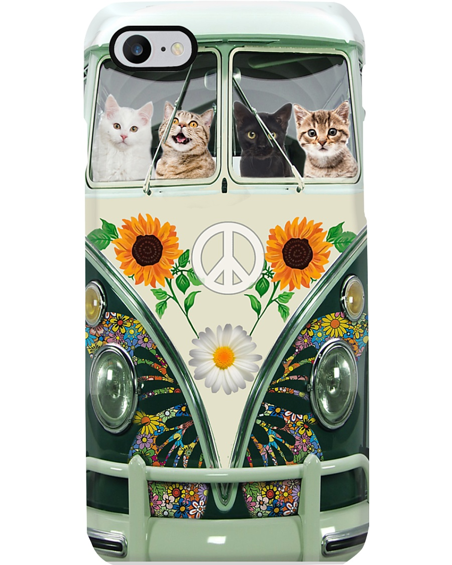 Cats in Hippie Bus Phone Case for iPhone 7 Plus Phone Case