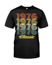 1976 classic age shirt vintage funny Classic T-Shirt front