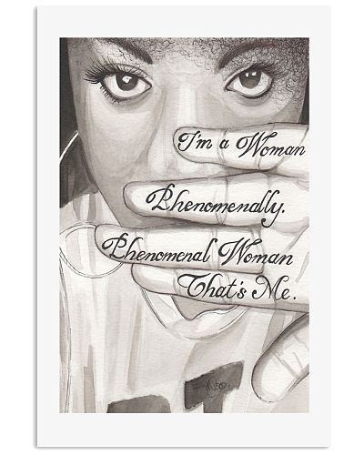 I'm a woman phenomenally that's me resist poster