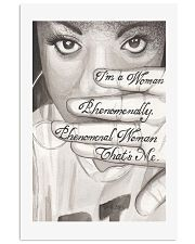 I'm a woman phenomenally that's me resist poster 11x17 Poster front
