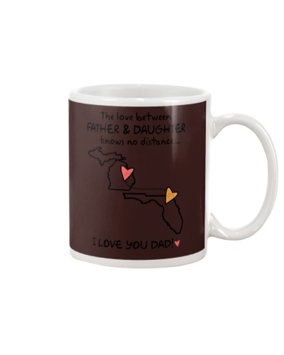 Father Daughter MI Mug Father's Day Gift