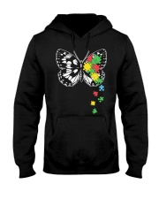 Autism Awareness Butterfly Puzzle Hooded Sweatshirt thumbnail