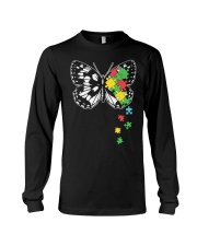 Autism Awareness Butterfly Puzzle Long Sleeve Tee thumbnail
