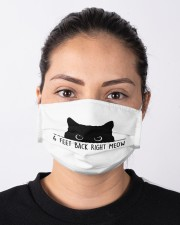 6 FEET BACK RIGHT MEOW Cloth face mask aos-face-mask-lifestyle-01
