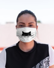 6 FEET BACK RIGHT MEOW Cloth face mask aos-face-mask-lifestyle-03