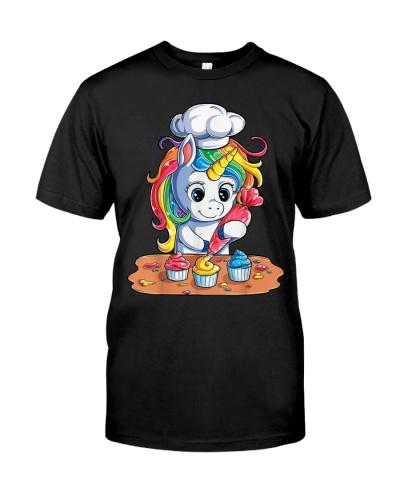 Rainbow Unicorns Baking Cake
