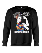 Autism Mom Unbreakable Crewneck Sweatshirt thumbnail