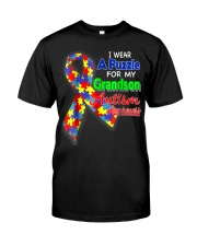 I wear a Puzzle for my Grandson Autism Awareness Classic T-Shirt front