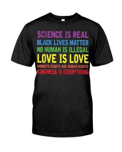 Science is Real Black Lives Matter LGBT