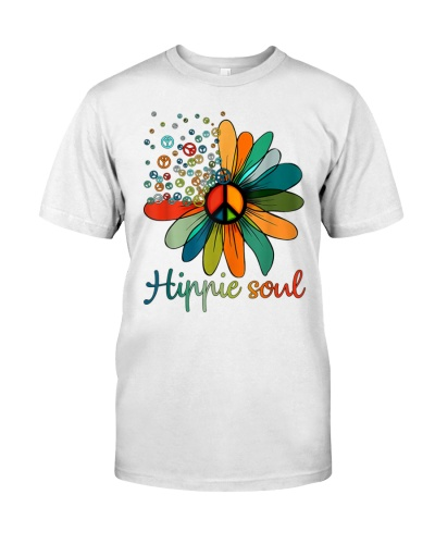 Daisy Peace Sign Hippie Soul Tshirt Flower Lovers