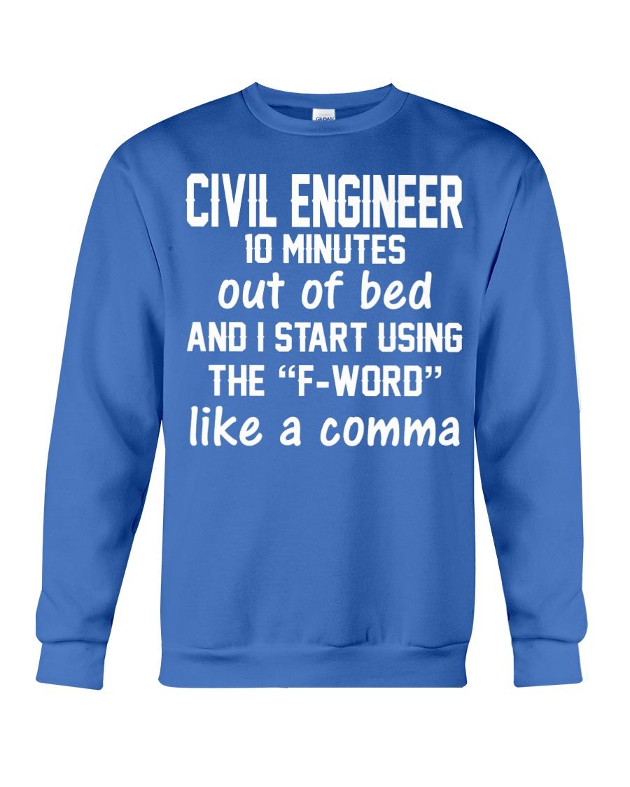 Civil Engineer LIKE A COMMA Crewneck Sweatshirt