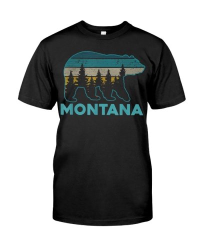 Montana Vintage Grizzly Bear Nature Hiking