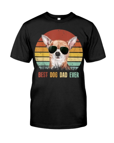 Vintage Best Dog Dad Ever Chihuahua