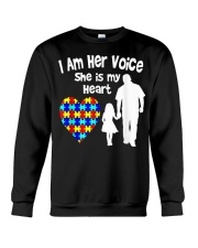 I Am Her Voice She Is My Heart Crewneck Sweatshirt thumbnail