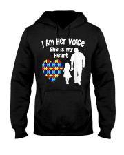 I Am Her Voice She Is My Heart Hooded Sweatshirt thumbnail