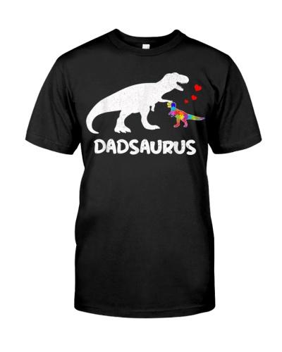 Dinosaur Dad Saurus Dadsaurus Autism Awareness