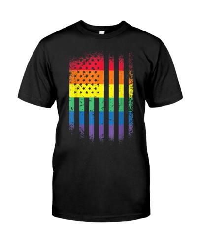LGBT Rainbow american flag gay pride transgender