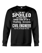 Well Taken Care Of By CIVIL ENGINEER Crewneck Sweatshirt thumbnail