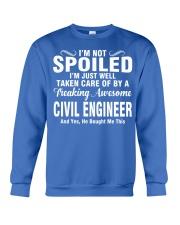 Well Taken Care Of By CIVIL ENGINEER Crewneck Sweatshirt front
