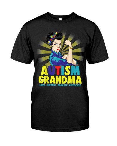 Autistic Autism Awareness Grandma Strong