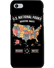 US National Parks Map Preserve Protect Phone Case thumbnail