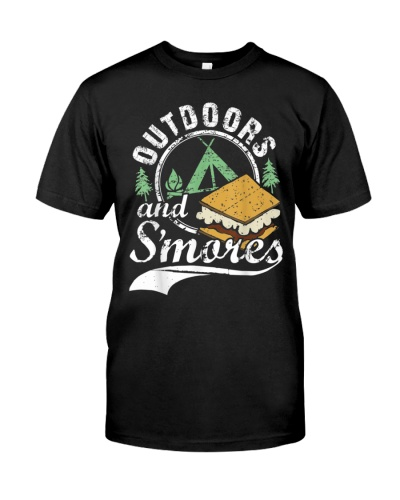 Outdoors and S'mores Funny Campfire Camping
