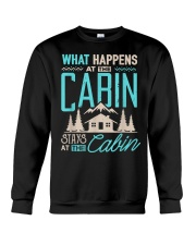 What Happens At The Cabin Stays At The Cabin Crewneck Sweatshirt thumbnail